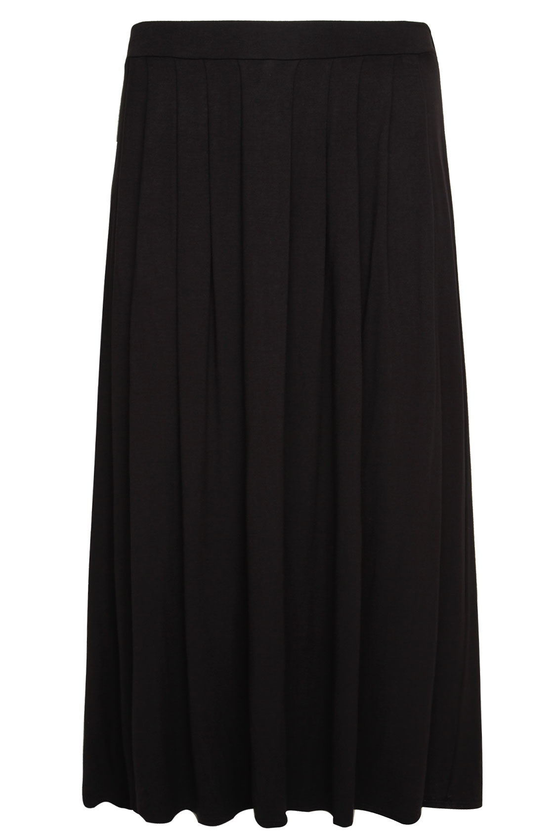 black jersey maxi skirt with pleating detail plus size 16