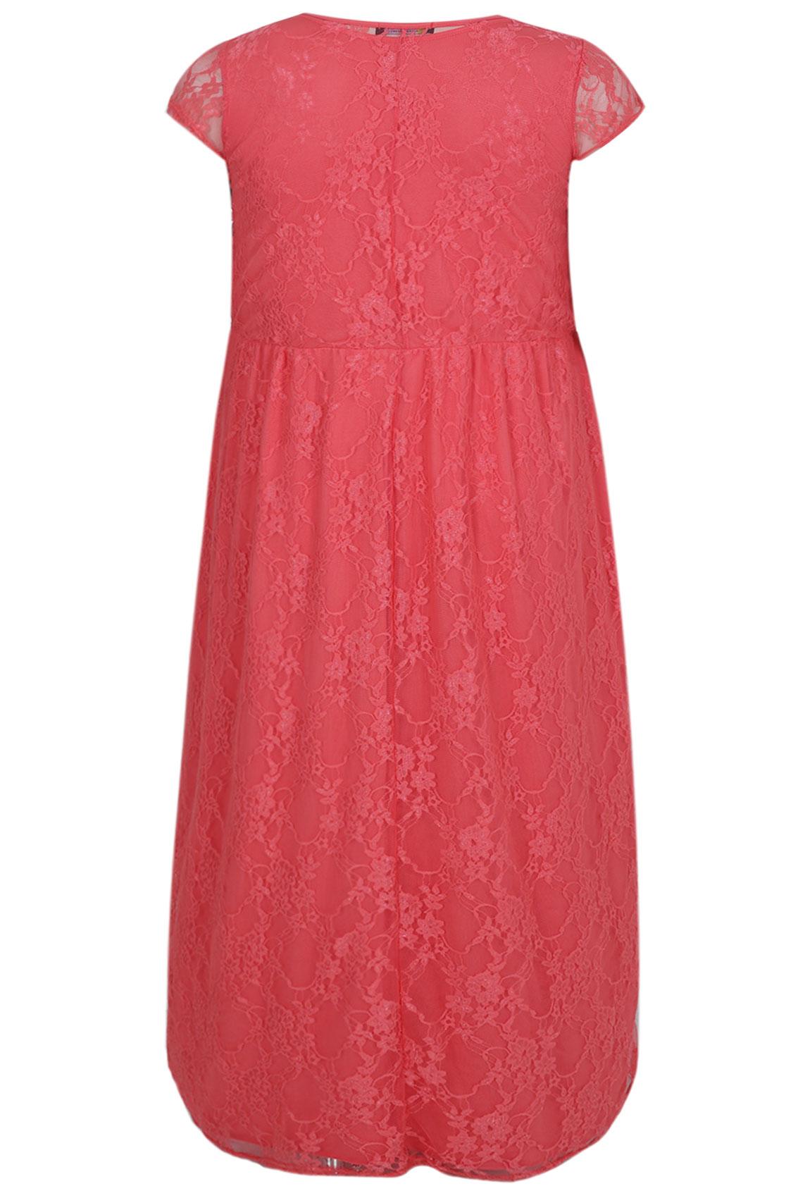 Pink plus size maxi dress