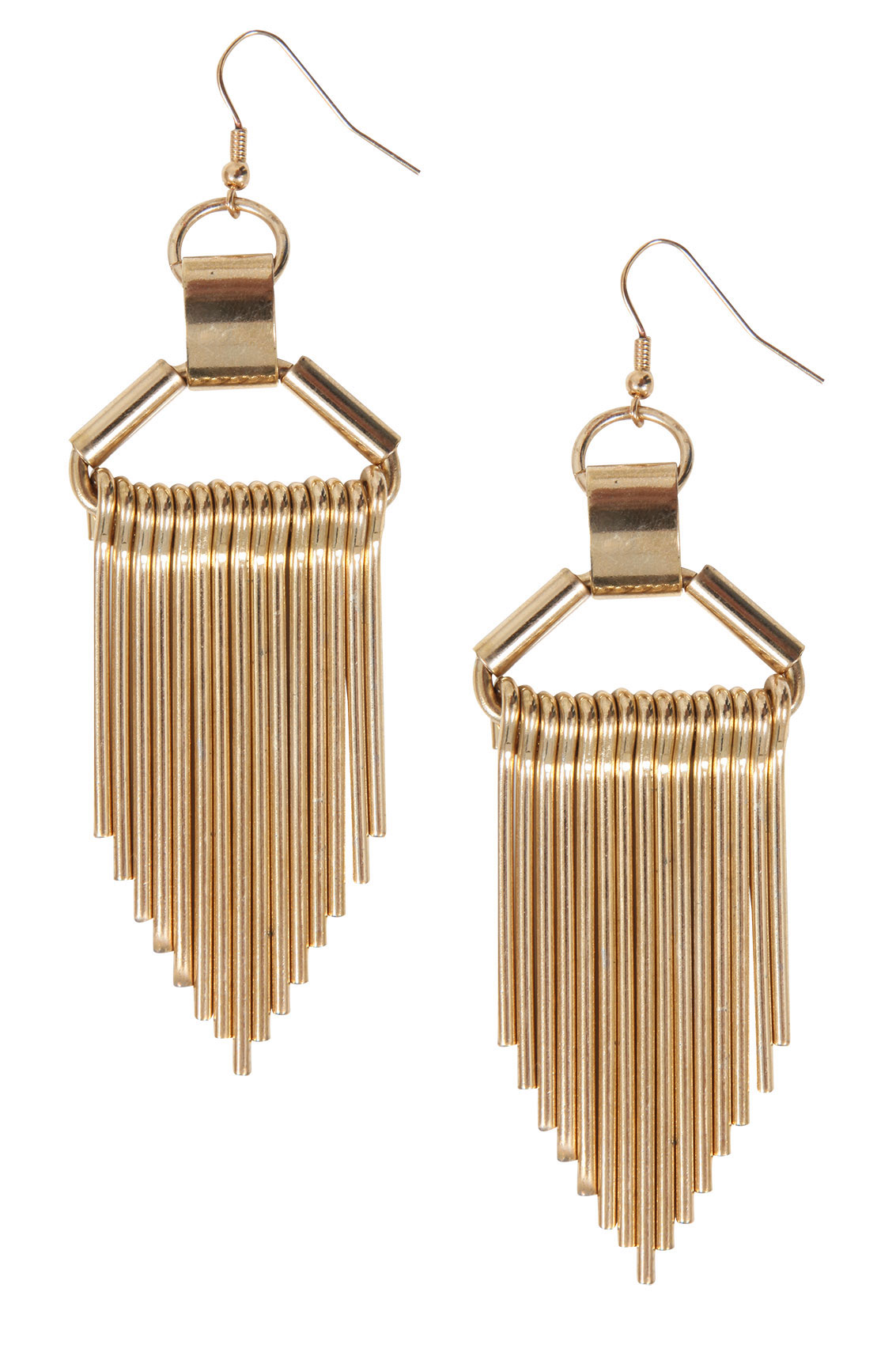Gold Chunky Fringe Style Earrings