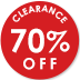 70% Off Selected