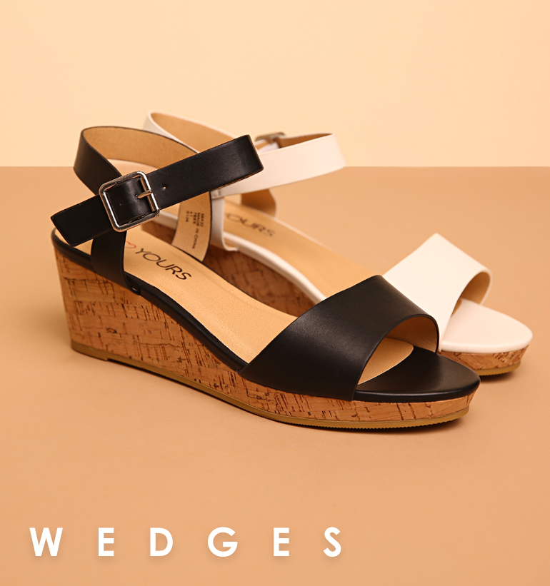 Shop Wedges, Up To Size 10 in EEE Fit >