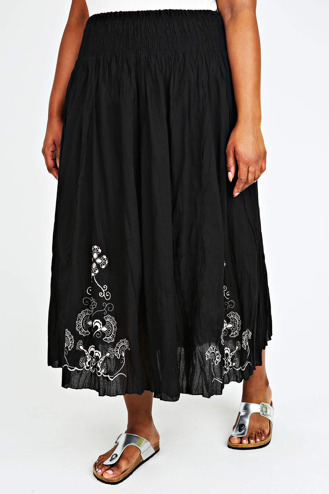 New Chaps Ralph Lauren Skirt Black White Peasant Boho Cotton Pull On Maxi XL See more like this. SPONSORED. GAP NWT $59 TRUE BLACK TIE BELT MIDI LINEN COTTON SKIRT sz. 0. Women's Mossimo Black Cotton Skirt Small. Pre-Owned. $ or .