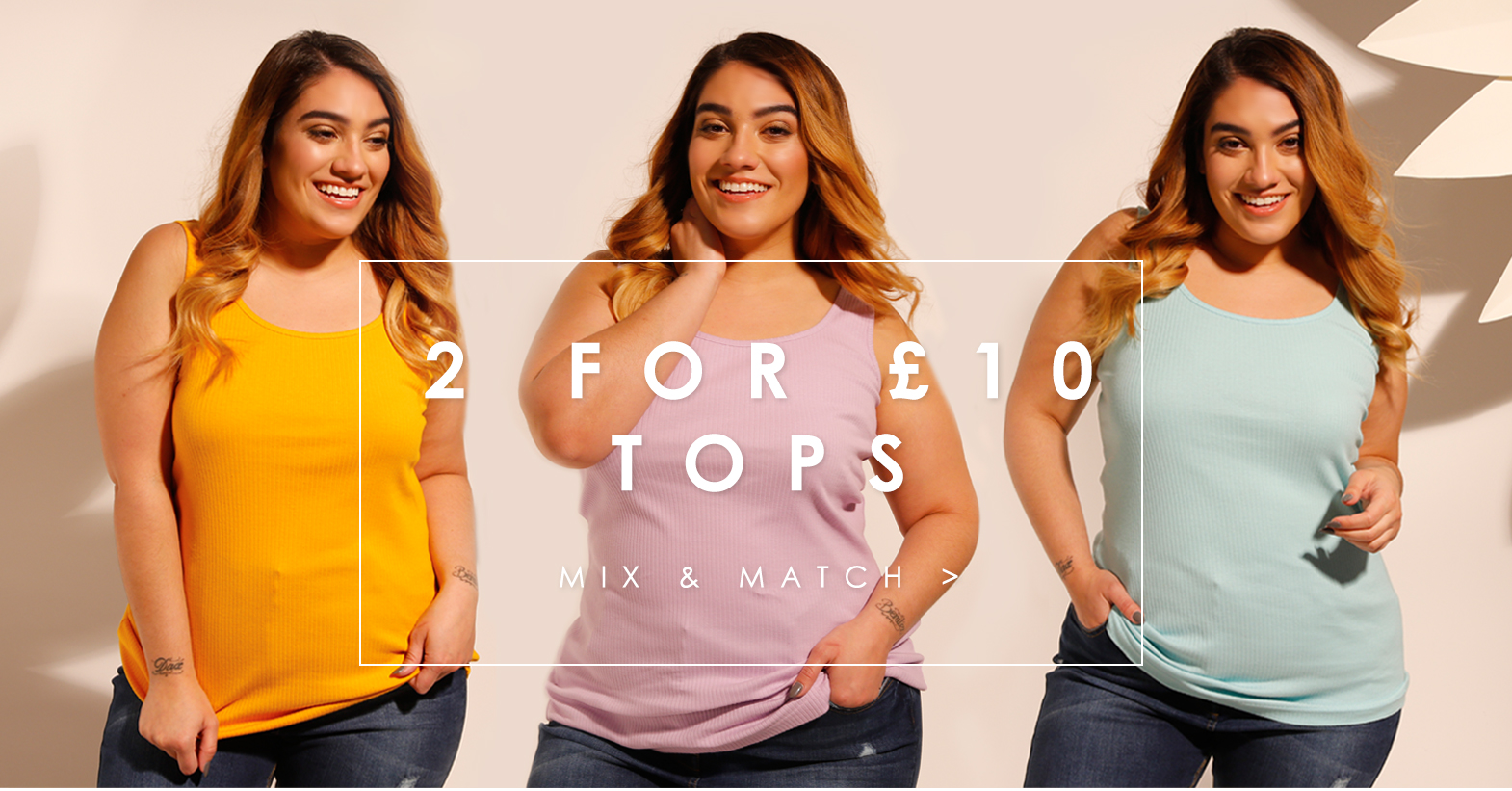 Two for £12 Tops >