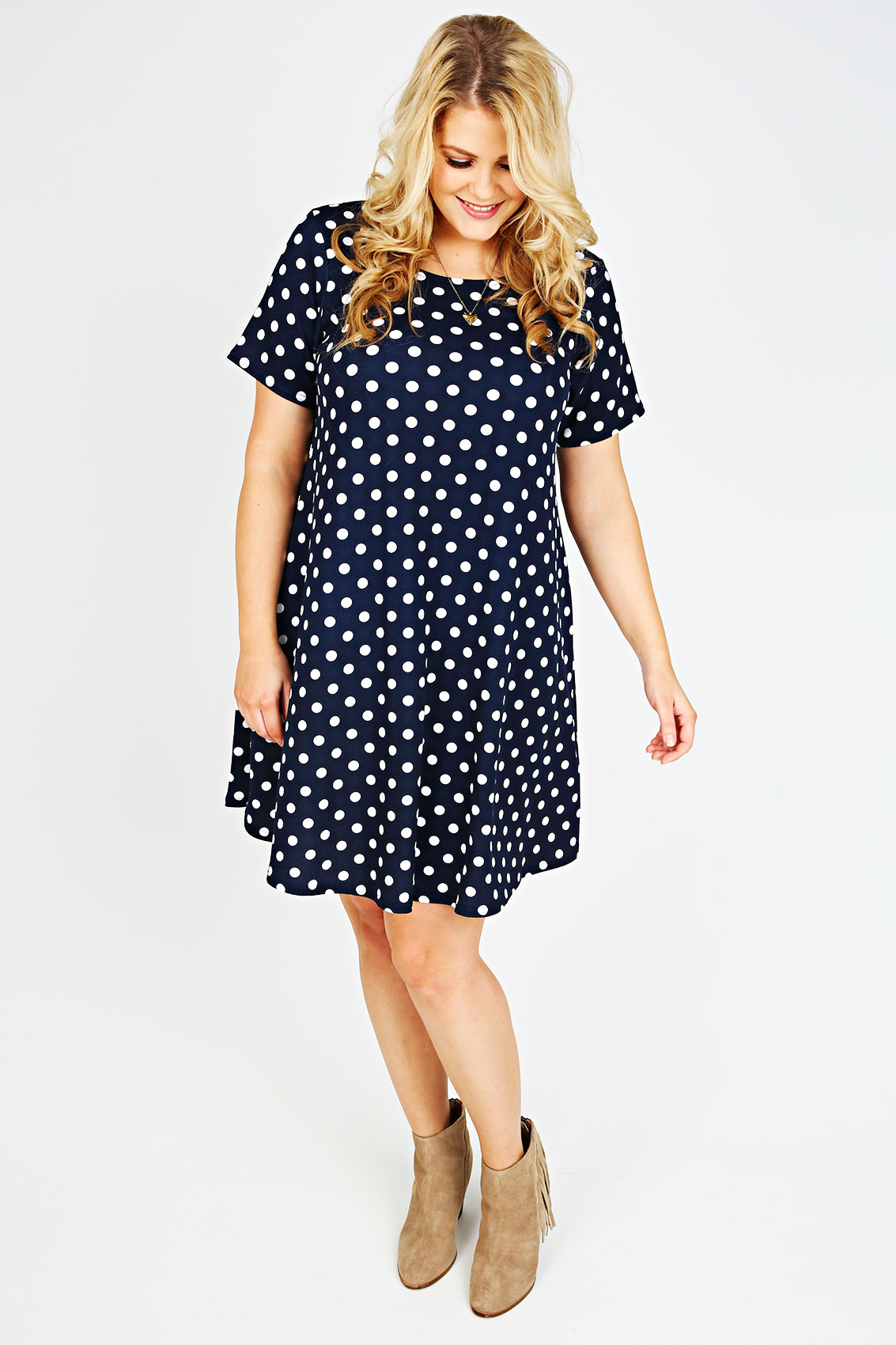Shop navy blue, black and red polka dot dresses, or keep things time-honored with a black and white polka dot dress with a splashy profile. Sort by Featured Best Selling Alphabetically, A-Z Alphabetically, Z-A Price, low to high Price, high to low Date, new to old Date, old to new.