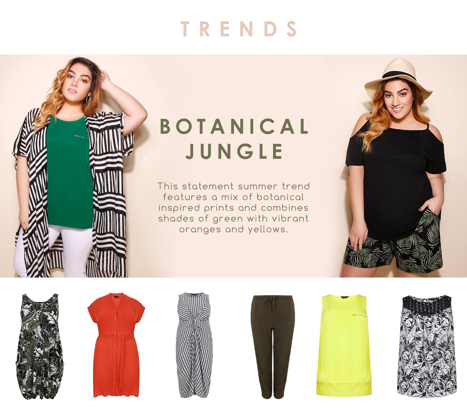 Trend , Botanical jungle, sizes 16-36 >