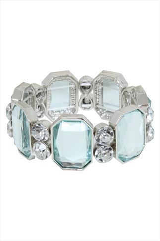 Sliver Clear Stone Mirror Bracelet