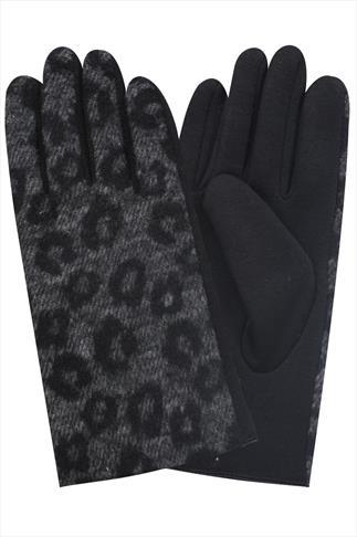Black & Grey Animal Felted Gloves