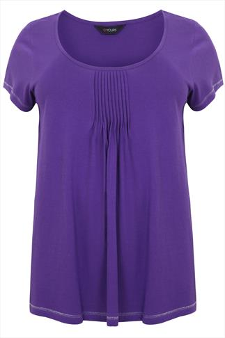 Purple Pyjama Top With Pleated Front