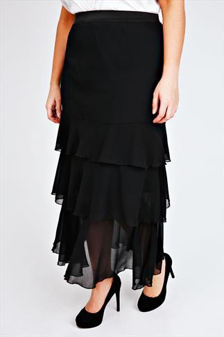 SCARLETT & JO Black Maxi Rara Skirt