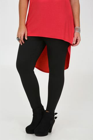 Black Pull On Ponte Stirrup Trousers With Elasticated Waist