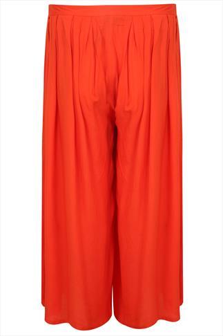 Orange Extreme Wide Leg Trousers