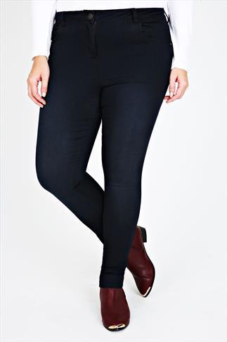 Indigo Blue Super Stretch Cotton Elastane Skinny Jeans