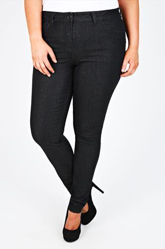 Black Skinny Jeans With Stitch Detail