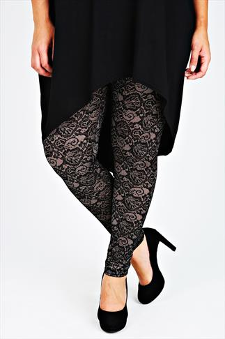 Gold & Black Lace Legging