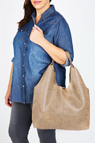 Taupe Slouch Handbag