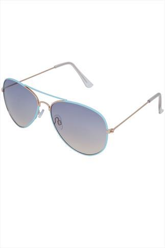Pastel Blue Aviator Sunglasses