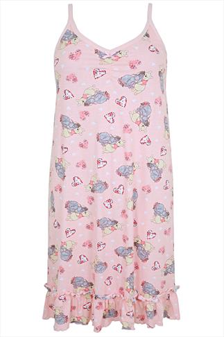 Pink Winnie & Eeyore Disney Print  Nightdress