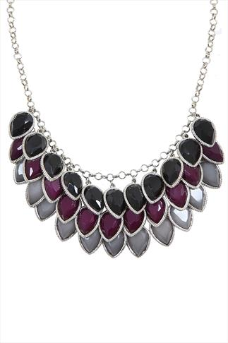 Tear Drop Layered Necklace