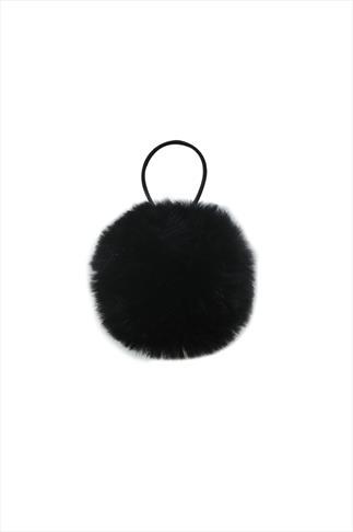 Black PomPom Hair Bobble
