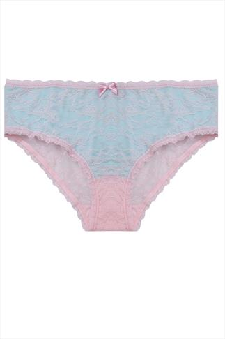 Turquoise & Pink Lace Briefs