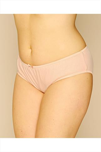 Black And Peach 3 Pair Pack Cotton Midi Briefs