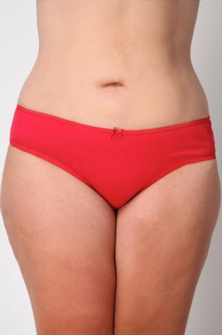 Red And Black 3 Pack Midi Briefs