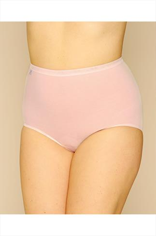SLOGGI Pastel Blue, Pink And Nude Basic Maxi Briefs 3 Pack