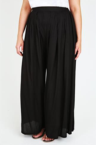 Black Extreme Wide Leg Trousers