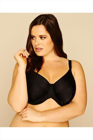 Black Classic Smooth Non Padded Underwired Bra