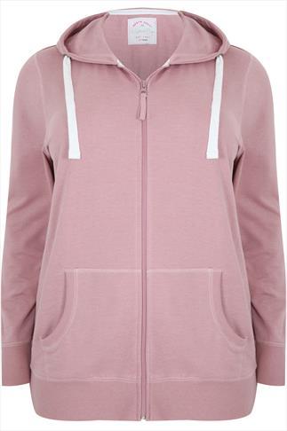 Westrock Bay Dusty Pink Hoodie With Zip Fastening