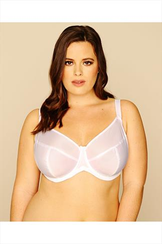 White Classic Smooth Non Padded Underwired Bra - Up to 50J