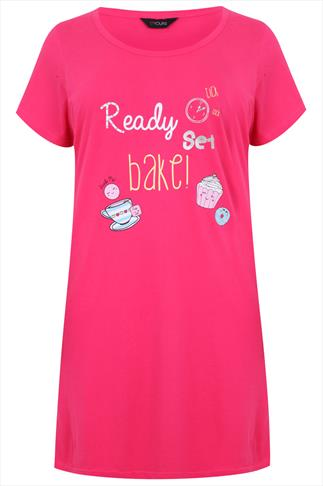 Pink Scooped Neck 'Bake' Nightdress