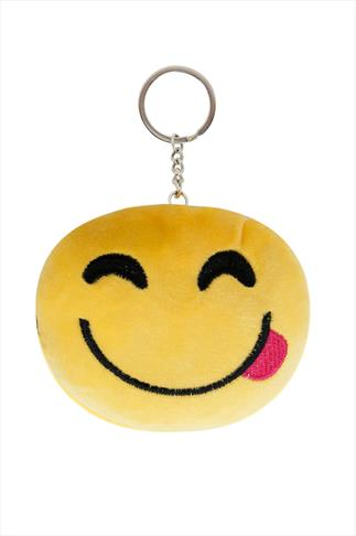Yellow Tongue Emoji Keyring