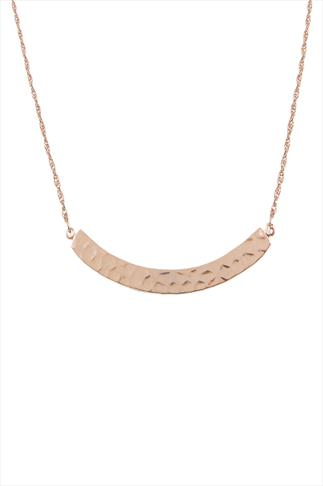 Rose Gold Curve Plate Necklace