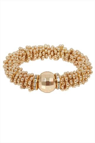 Gold Cluster Ball Stretch Bracelet