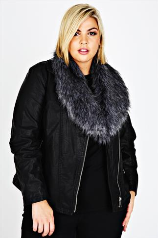 Grey Faux Fur Stole Scarf With Silky Lining