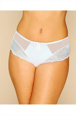 ELOMI Cream Lace And Mesh Maria Brief
