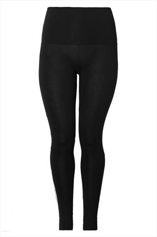 Black TUMMY CONTROL Full Length Leggings
