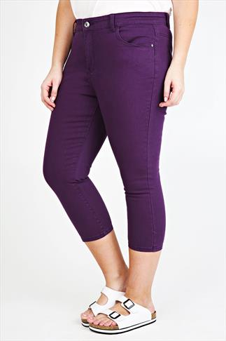 Purple Denim Crop Jean