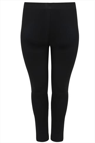 Black Scuba Jegging With Elasticated Waist