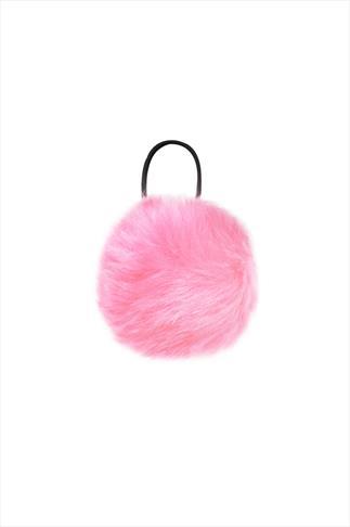 Light Pink PomPom Hair Bobble