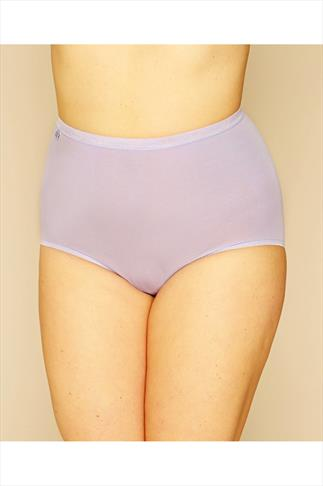 SLOGGI Pastel Blue, Purple And Yellow Basic Maxi Briefs 3 Pack