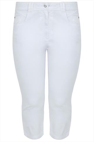 White Denim Cropped Jeans