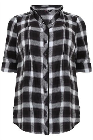 Black and White Checked Cotton Shirt