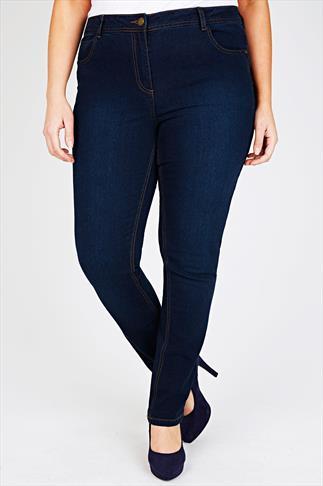 Indigo Straight Leg 5 Pocket Denim Jeans