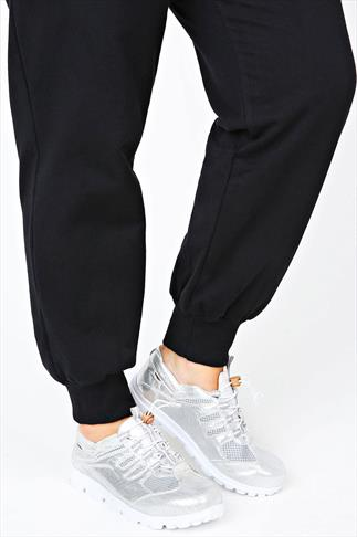 Silver Slip On Toggle Trainers in EEE Fit