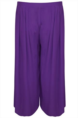Purple Extreme Wide Leg Trousers