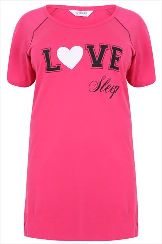 "Hot Pink ""Love Sleep"" Nightdress"