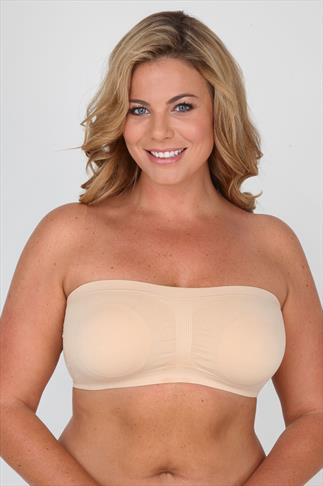 Nude Seamless Surefit Bandeau Bra With Soft Padded Full Cups