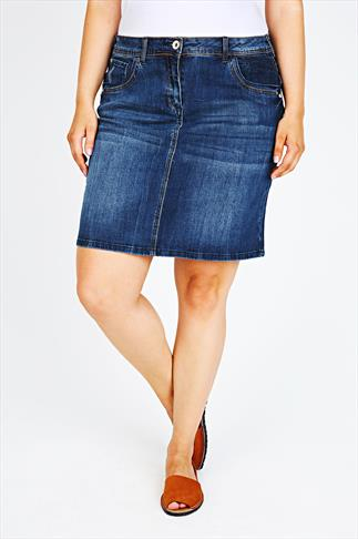 Indigo Denim Mini Skirt